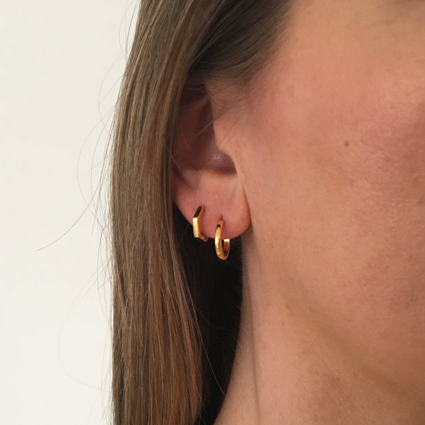 18ct Gold Vermeil Classic Mini Hoops