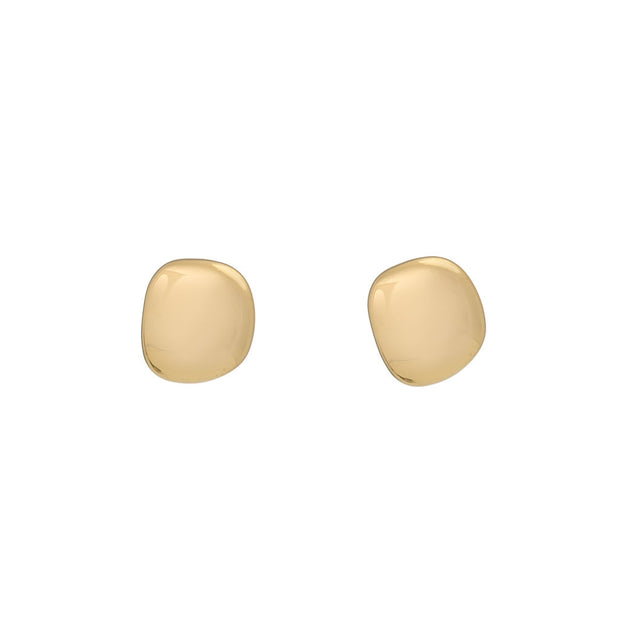 Lena 18ct Gold Vermeil Pebble Stud Earrings
