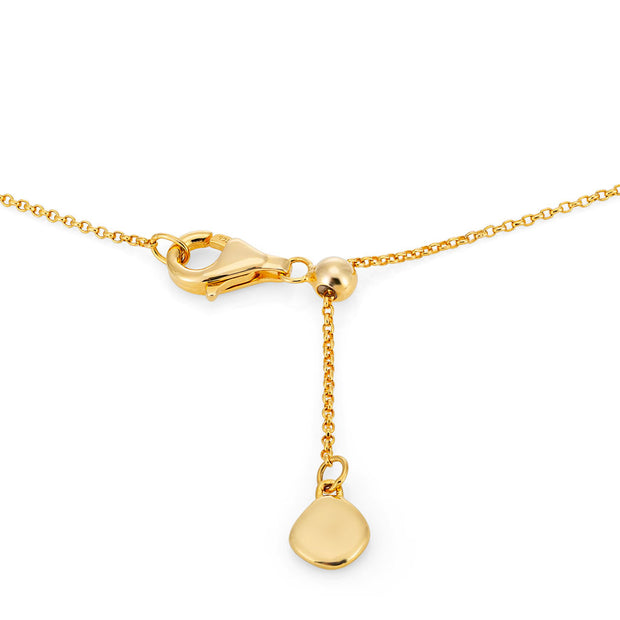 Rhea 18ct Gold Vermeil Faceted Edge Pendant Necklace *STOCK EXPECTED BY 20th NOV*