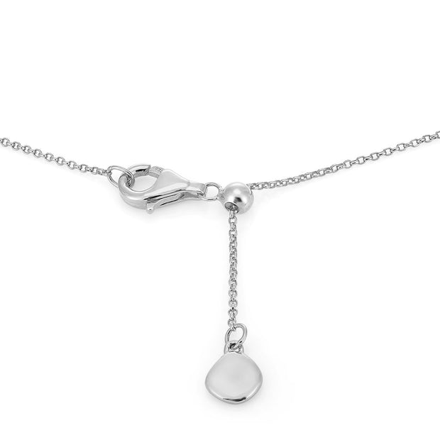 Rhea Sterling Silver Faceted Edge Pendant Necklace