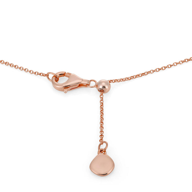 Rhea 18ct Rose Gold Vermeil Faceted Edge Pendant Necklace