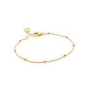 18ct Gold Vermeil Beaded Bracelet