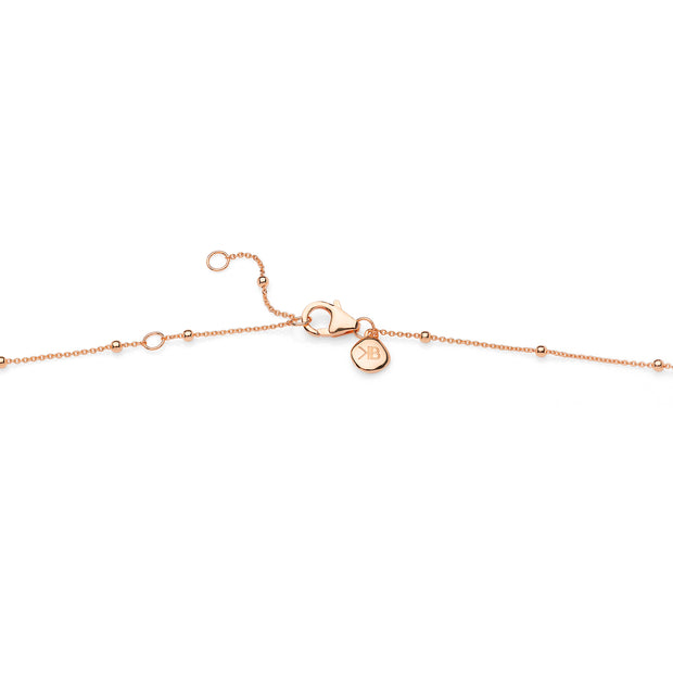 "18ct Rose Gold Vermeil 16-18"" Beaded Chain"