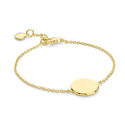 Rhea 18ct Gold Vermeil Faceted Disc Bracelet