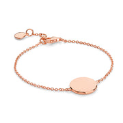 Rhea 18ct Rose Gold Vermeil Faceted Disc Bracelet