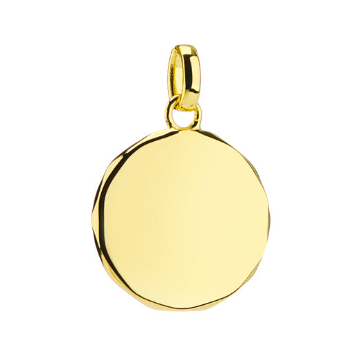 Rhea 18ct Gold Vermeil Faceted Edge Pendant