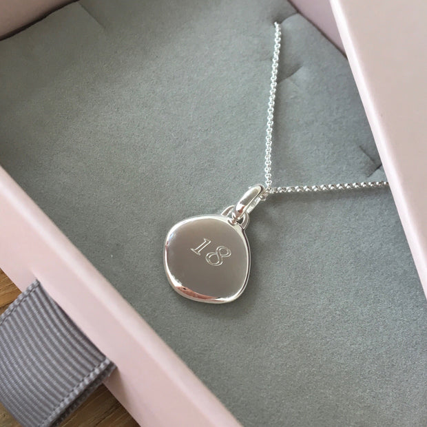 Lena Sterling Silver Pebble Pendant