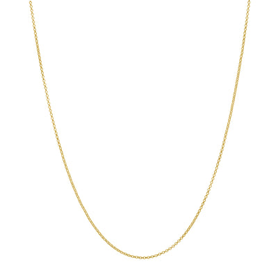 "18ct Gold Vermeil 20"" Adjustable Rolo Chain with sliding adjuster"