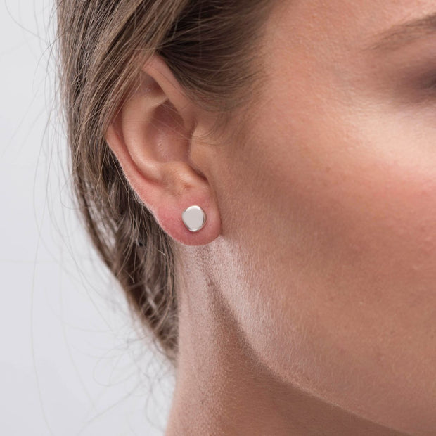 Lena Sterling Silver Pebble Stud Earrings