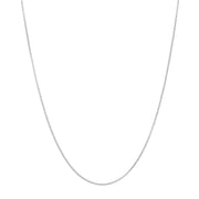 "Sterling SIlver 20"" Adjustable Rolo Chain with sliding adjuster"