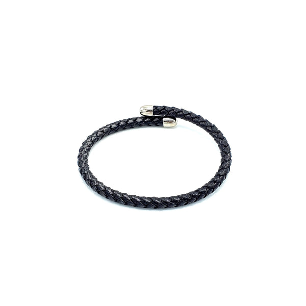 Semirigid Woven Italian Leather Bracelet - LOVE DOT, Inc.