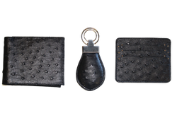 Ostrich Leather Gift Set - LOVE DOT, Inc.