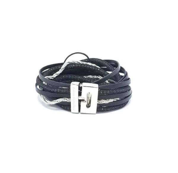 Roberto Mantellassi Black Bracelet - LOVE DOT, Inc.