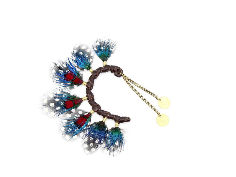 Blue & Red Ear Cuff - LOVE DOT, Inc.