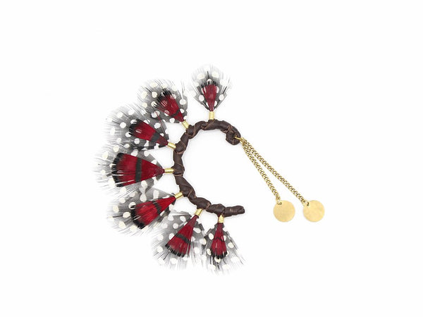 Lady Amherst Red Ear Cuff - LOVE DOT, Inc.