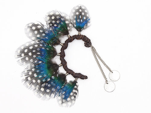 Peacock Blue Ear Cuff - LOVE DOT, Inc.