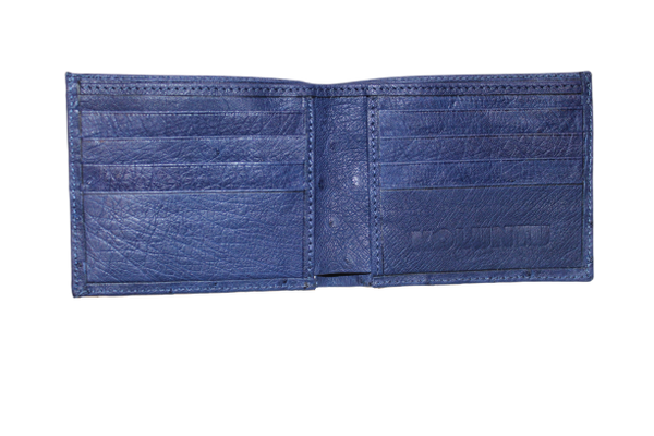 Ostrich Leather Billfold Wallet - LOVE DOT, Inc.