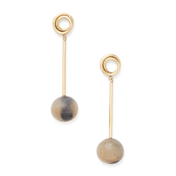 Linea Horn Drop Earrings - LOVE DOT, Inc.