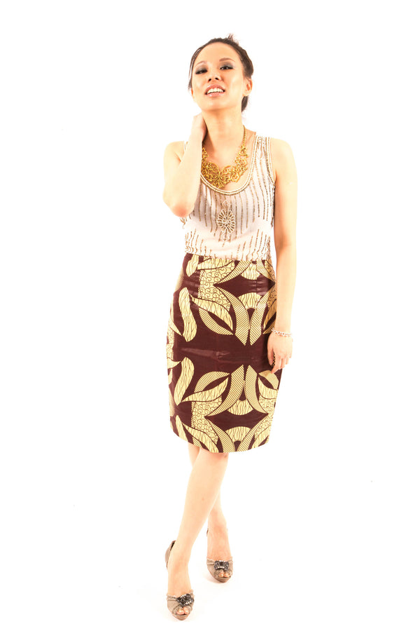 Lupita Pencil Skirt - LOVE DOT, Inc.