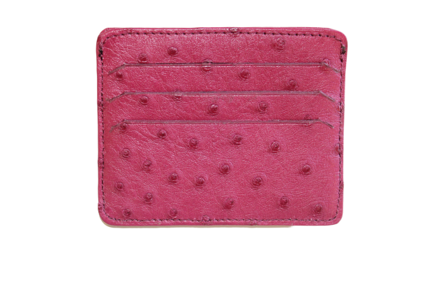 Ostrich Leather Two-Sided Credit Card and Cash Wallet - LOVE DOT, Inc.