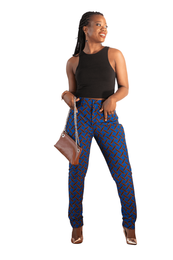 Royalty Slim Fit Ankara Pant - LOVE DOT, Inc.
