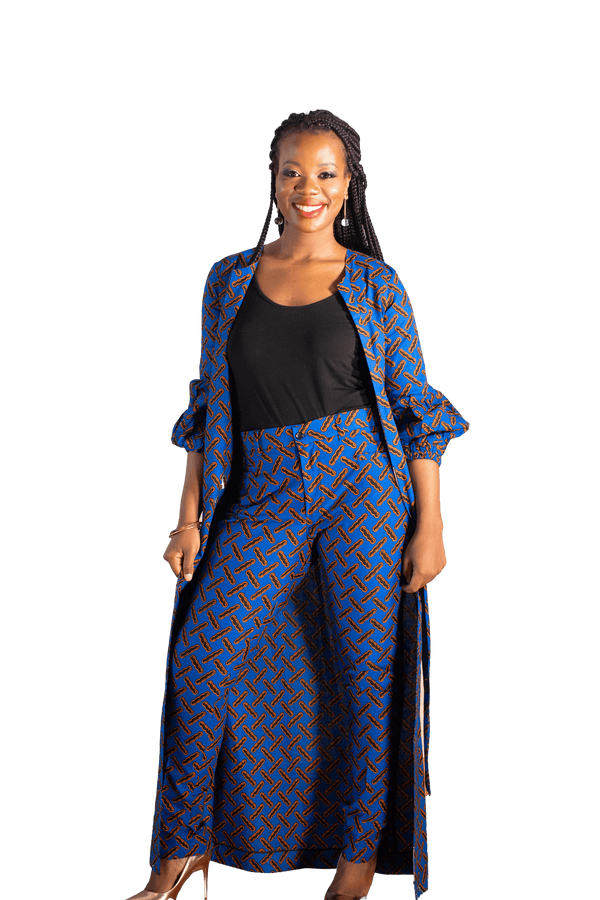 Royalty Ankara Kimono (Long) - LOVE DOT, Inc.