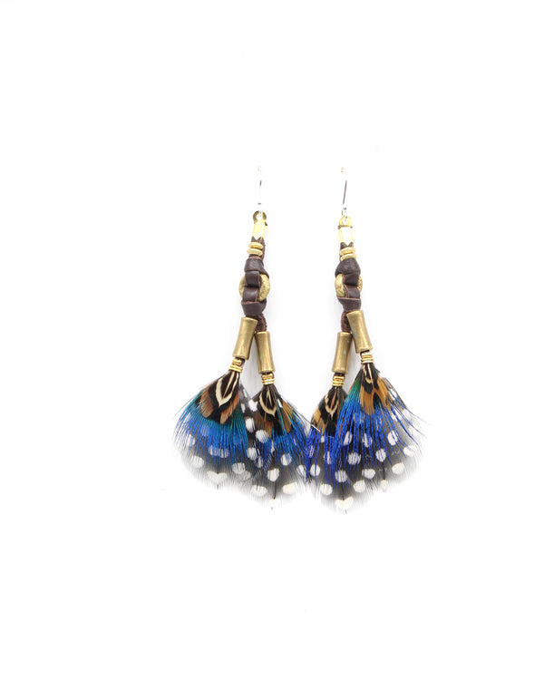 Blue Mabawa Earring - LOVE DOT, Inc.