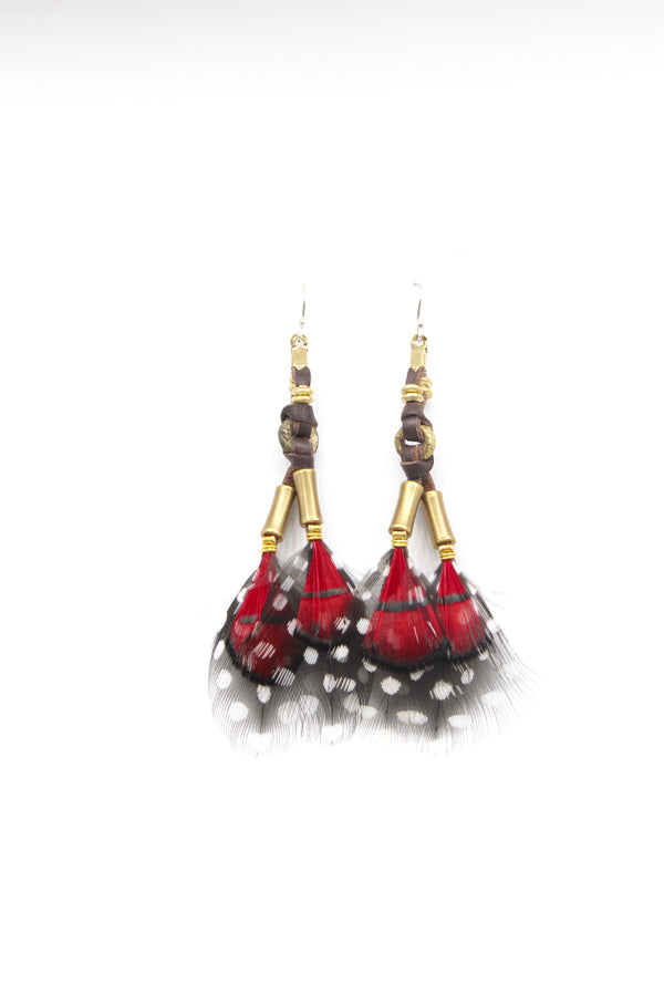 Red Mabawa Earring - LOVE DOT, Inc.