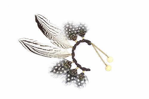 Silver Pheasant Ear Cuff - LOVE DOT, Inc.