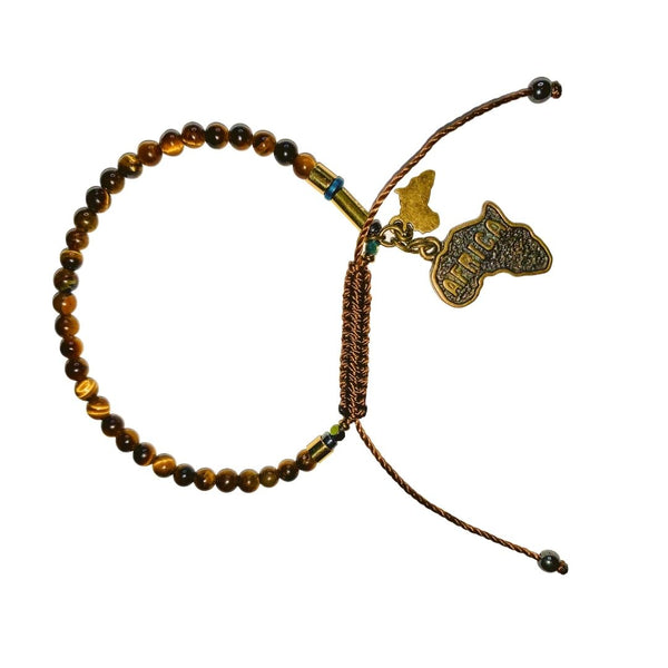 Tiger's Eye Bracelet (4MM) - LOVE DOT, Inc.