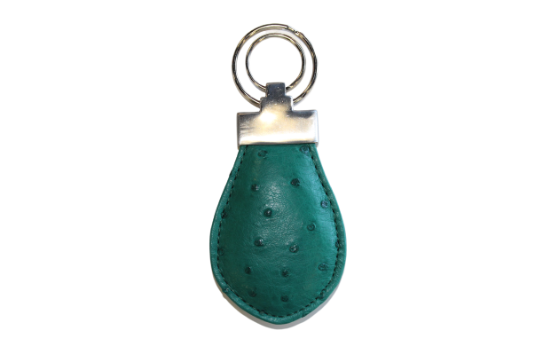 Ostrich Leather Keychain - LOVE DOT, Inc.
