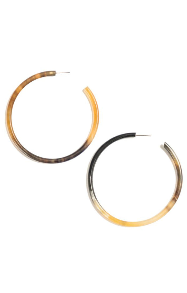 Large Horn Hoop Earring - LOVE DOT, Inc.
