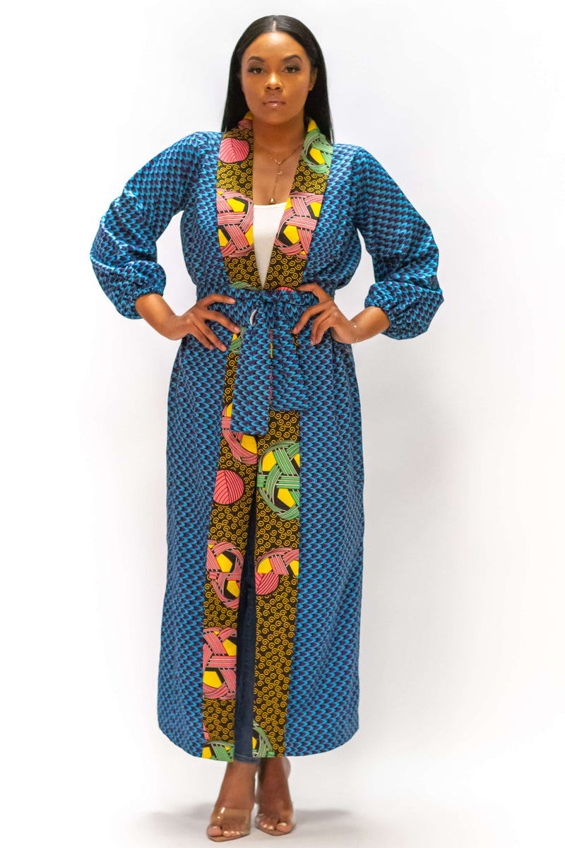 The Scholar Ankara Kimono - LOVE DOT, Inc.