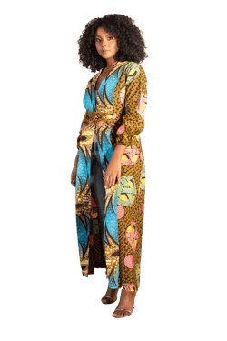 Orbit Ankara Kimono (Long) - LOVE DOT, Inc.