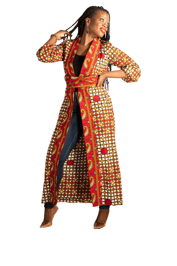 The Delta Ankara Kimono (Long) - LOVE DOT, Inc.