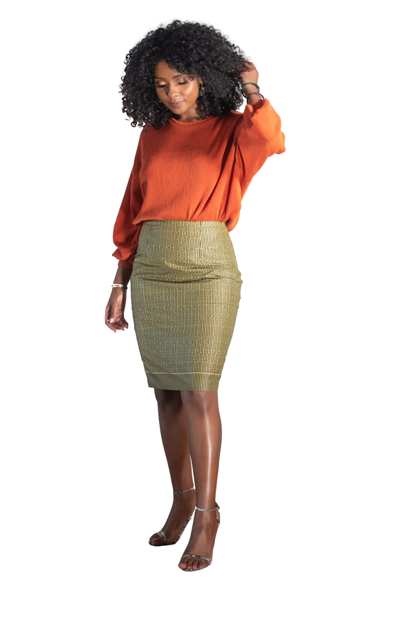 Ify Yani Pencil Skirt - LOVE DOT, Inc.