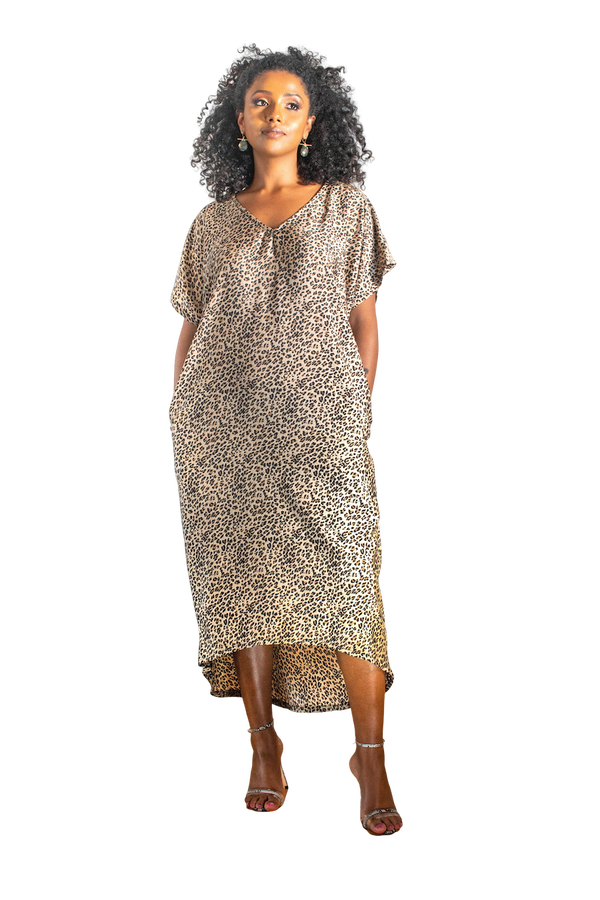 Safari - Oversize Chiffon Dress - LOVE DOT, Inc.