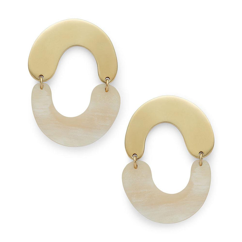 Miro Mixed Material Earrings - LOVE DOT, Inc.