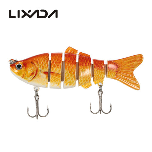 Lixada 10cm 20g Fishing Wobblers 6 Segments Swimbait