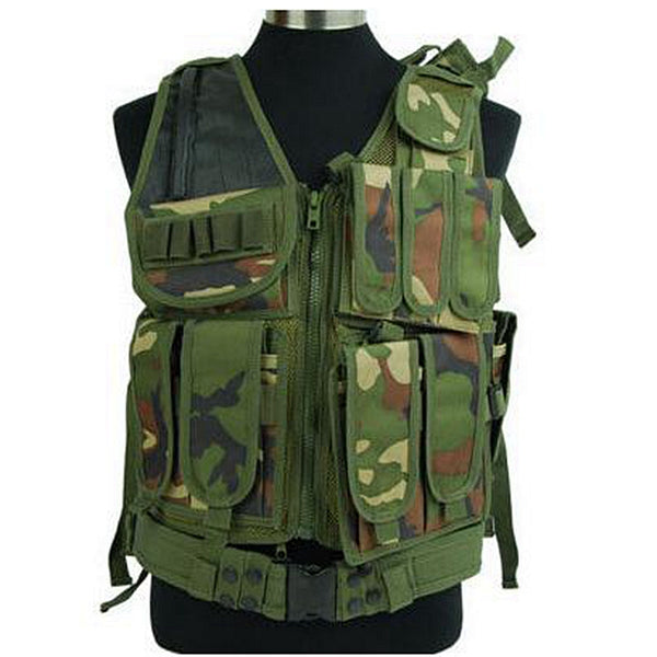 Hunting Outdoor Molle Police Vest With Pistol Holster