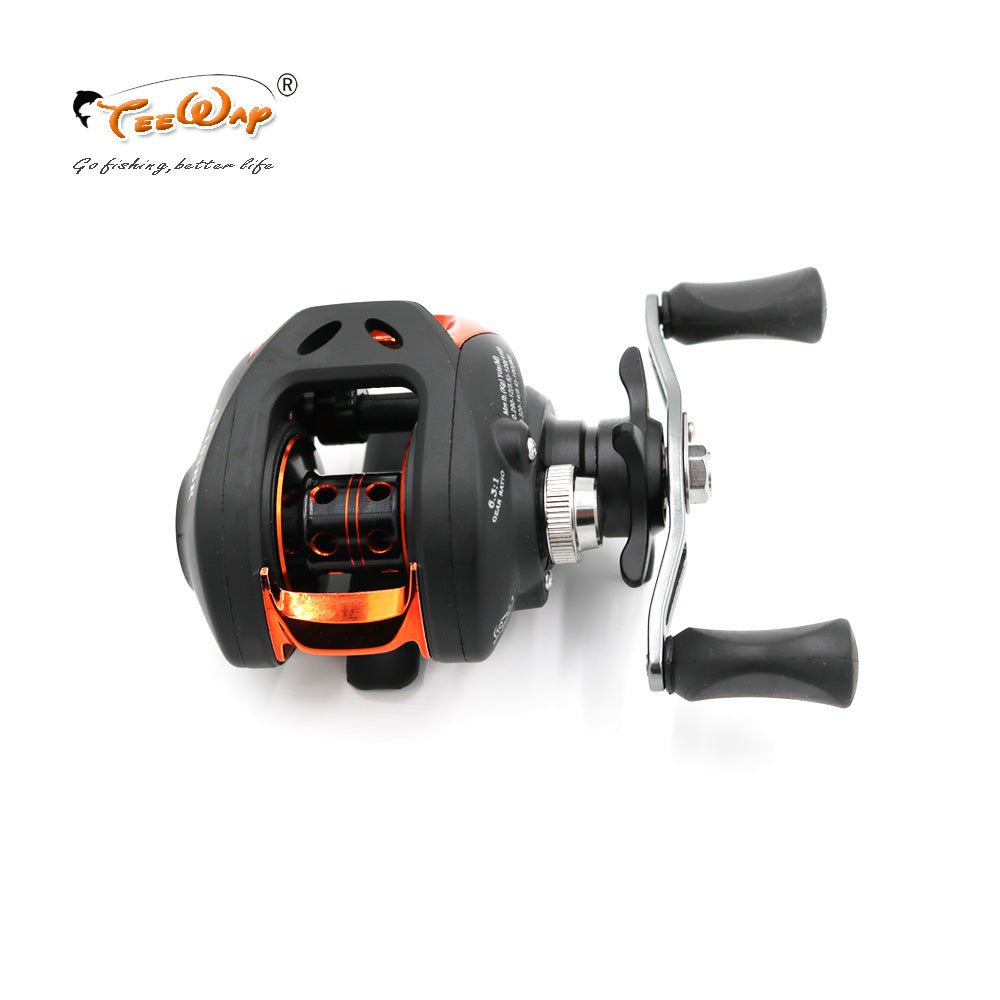High Speed Baitcasting Pesca 6.3:1 AF103BR Black fly fishing