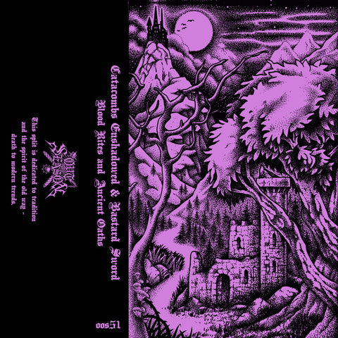 CATACOMBS ENSHADOWED / BASTARD SWORD split Pro-Tape (PRE-ORDER)