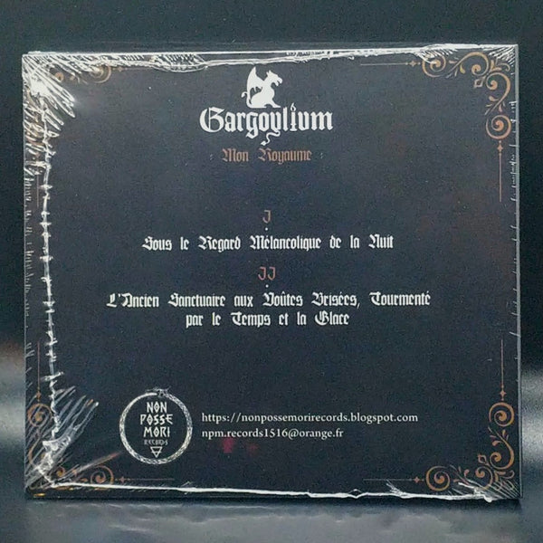 "[SOLD OUT] GARGOYLIUM ""Mon Royaume"" CD"