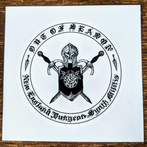 "OUT OF SEASON ""New England DS Militia"" Sticker"