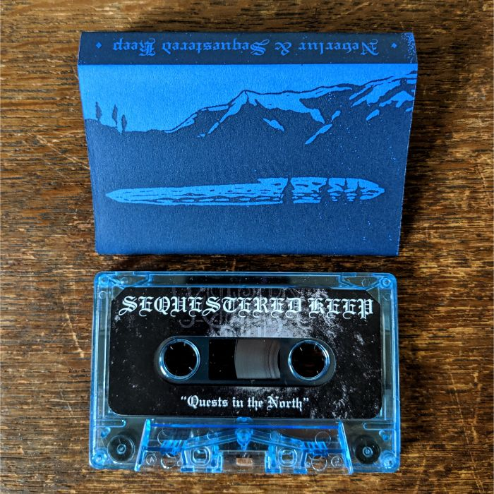 "NEVERLUR / SEQUESTERED KEEP ""Under Nordljosets Straalar / Quests in the North"" split Pro-Tape"