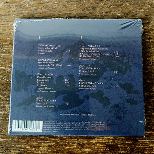 "[SOLD OUT] FINAL SYMPHONY ""Music from Final Fantasy VI, VII and X"" 2xCD"