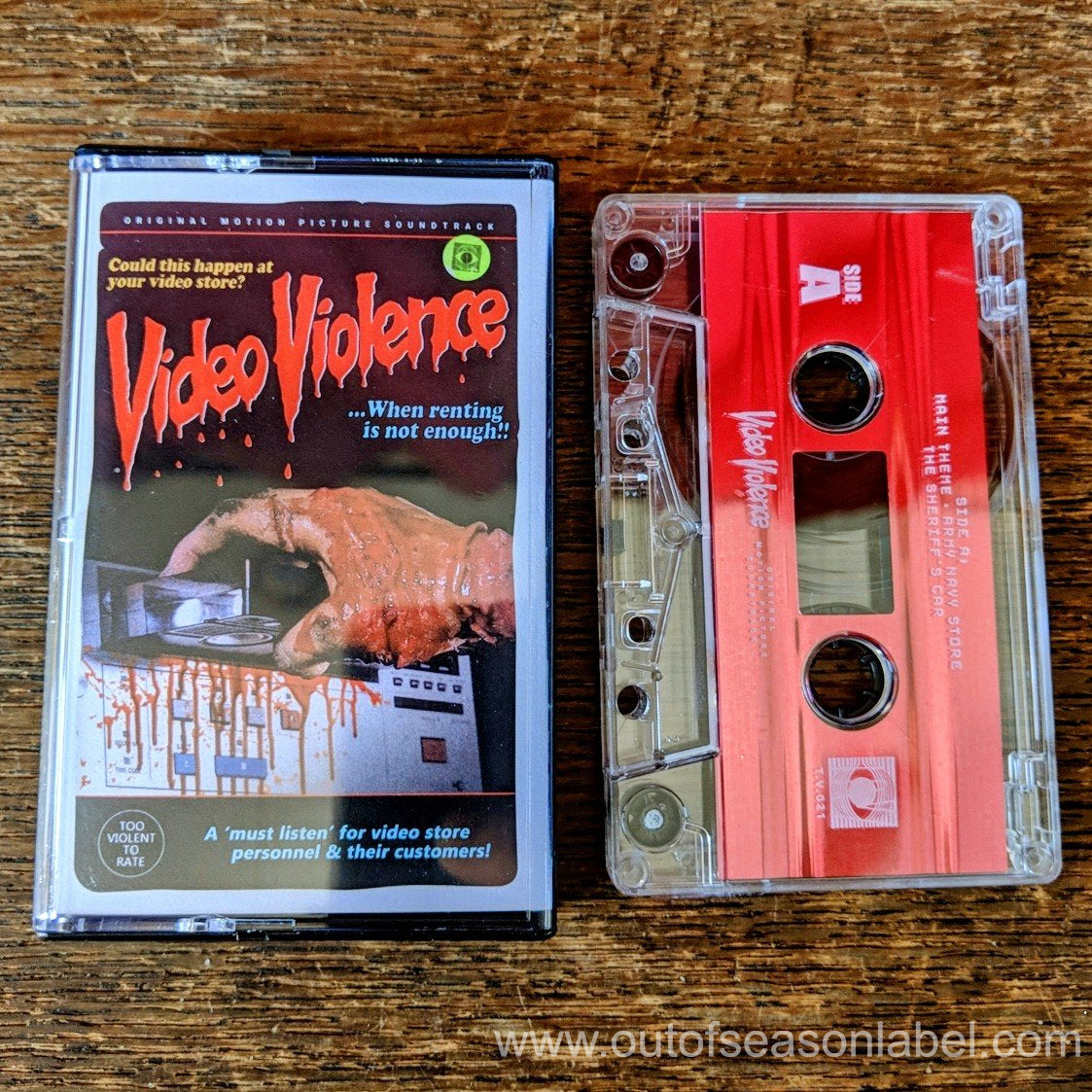 "[SOLD OUT] VIDEO VIOLENCE ""Original Motion Picture Soundtrack"" Cassette Tape"
