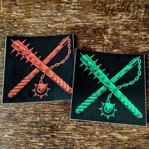 "OUT OF SEASON ""Green+Red Weapons"" Stickers (set of 2)"
