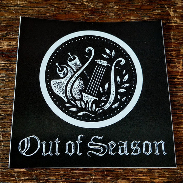 OUT OF SEASON CMYK Stickers (set of 4)