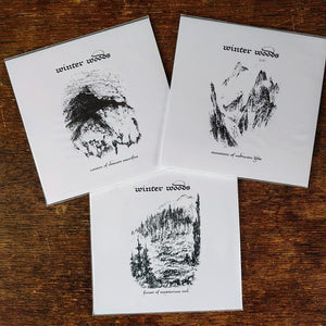 "WINTER WOODS ""Forest / Mountain / Cavern"" 3xCD set"